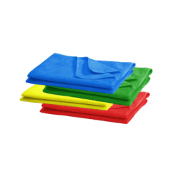 Microfibre Cloths 40x40cm (Extra Large) - Red / Blue / Green / Yellow  (Pack of 10)